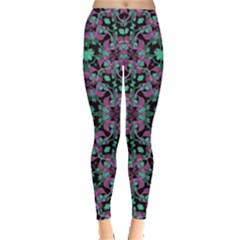 Floral Arabesque Print Leggings  by dflcprintsclothing