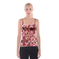 Vintage Floral Print Spaghetti Strap Top by dflcprintsclothing