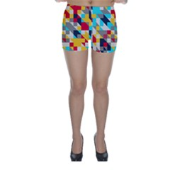 Colorful Shapes Skinny Shorts by LalyLauraFLM