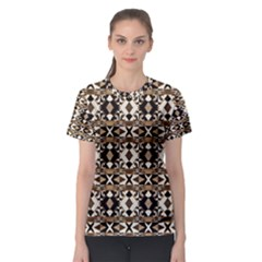 Geometric Tribal Print Women s Sport Mesh Tee by dflcprintsclothing