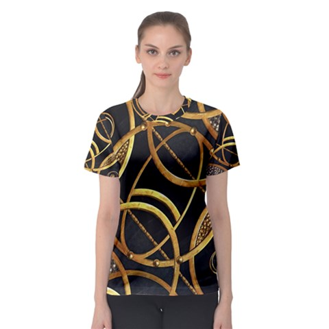 Futuristic Ornament Print Women s Sport Mesh Tee by dflcprintsclothing