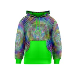 Hypnotic Star Burst Fractal Kid s Pullover Hoodie by StuffOrSomething