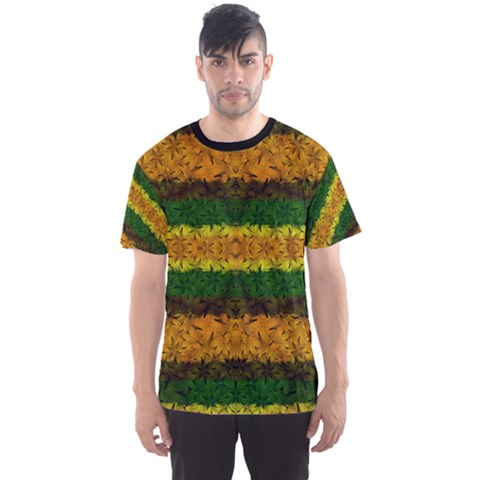 Tribal Floral Pattern Men s Sport Mesh Tee by dflcprintsclothing
