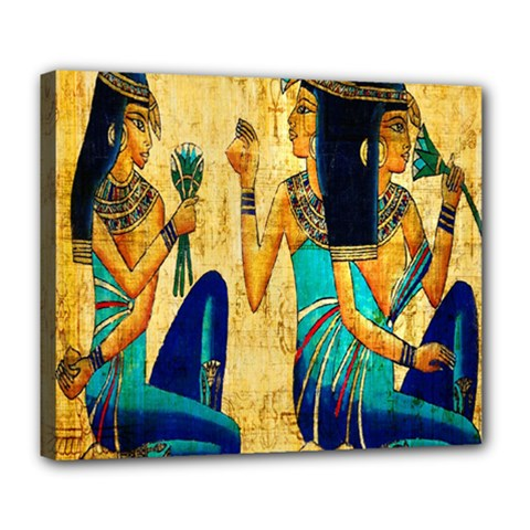 Egyptian Queens Deluxe Canvas 24  X 20  (framed) by TheWowFactor