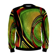 Multicolored Abstract Print Men s Sweatshirt by dflcprintsclothing