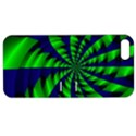 Green blue spiral Apple iPhone 5 Hardshell Case with Stand View1