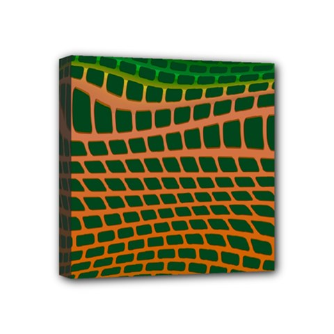 Distorted Rectangles Mini Canvas 4  X 4  (stretched) by LalyLauraFLM