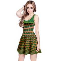Distorted Rectangles Sleeveless Dress