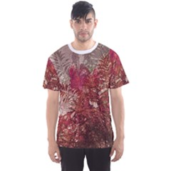 Floral Print Collage  Men s Sport Mesh Tee