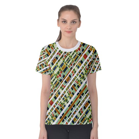 Colorful Tribal Geometric Print Women s Cotton Tee by dflcprintsclothing