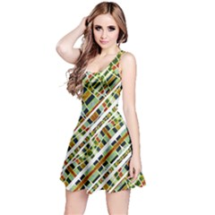 Colorful Tribal Geometric Print Sleeveless Dress