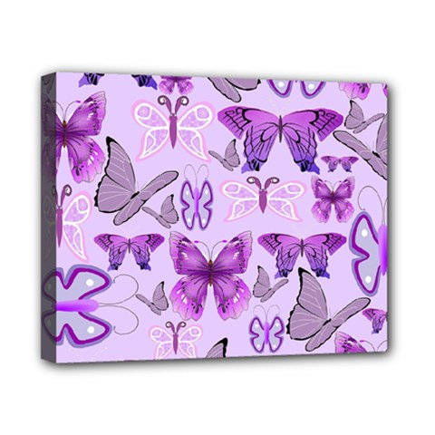 Purple Awareness Butterflies Canvas 10  X 8  (framed) by FunWithFibro