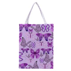Purple Awareness Butterflies Classic Tote Bag by FunWithFibro