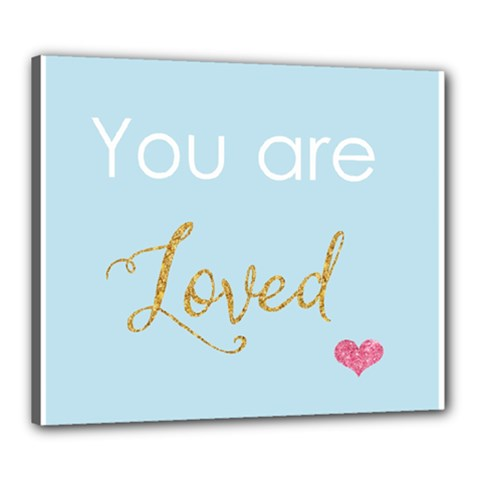 You Are Loved Canvas 24  X 20  (stretched) by Kathrinlegg