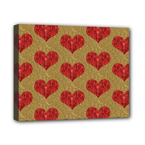 Sparkle Heart  Canvas 10  X 8  (framed)
