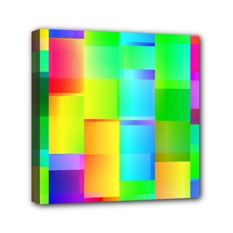 Colorful Gradient Shapes Mini Canvas 6  X 6  (stretched)