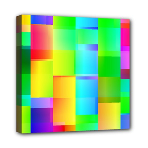 Colorful Gradient Shapes Mini Canvas 8  X 8  (stretched) by LalyLauraFLM