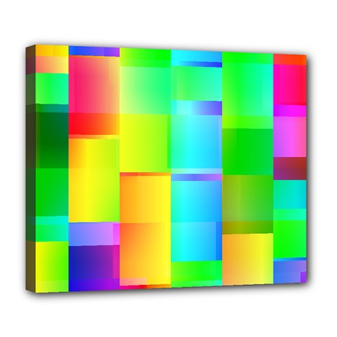 Colorful Gradient Shapes Deluxe Canvas 24  X 20  (stretched) by LalyLauraFLM