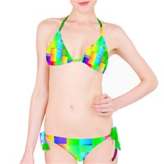 Colorful Gradient Shapes Bikini Set by LalyLauraFLM