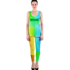 Colorful Gradient Shapes Onepiece Catsuit by LalyLauraFLM