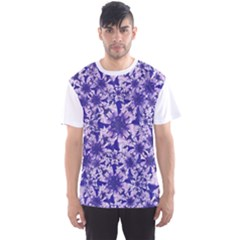 Decorative Floral Print Men s Sport Mesh Tee by dflcprintsclothing