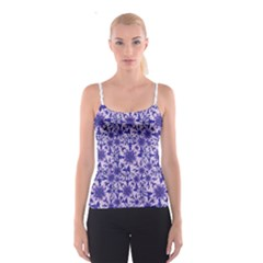 Decorative Floral Print Spaghetti Strap Top by dflcprintsclothing