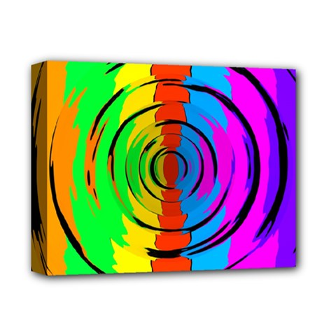 Rainbow Test Pattern Deluxe Canvas 14  X 11  (framed) by StuffOrSomething