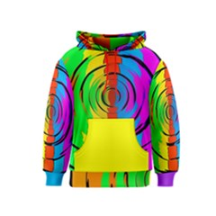 Rainbow Test Pattern Kid s Pullover Hoodie by StuffOrSomething