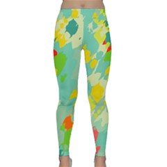 Smudged Shapes Yoga Leggings by LalyLauraFLM