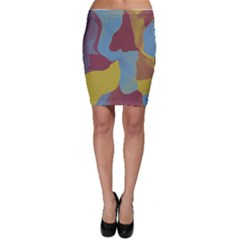 Watercolors Bodycon Skirt
