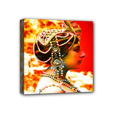 Mata Hari Mini Canvas 4  X 4  (stretched) by icarusismartdesigns
