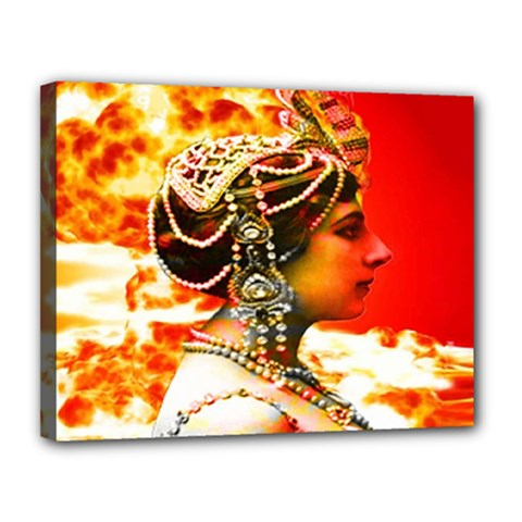 Mata Hari Canvas 14  X 11  (stretched) by icarusismartdesigns