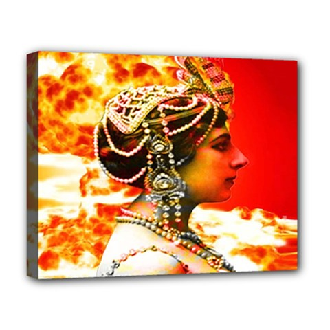 Mata Hari Deluxe Canvas 20  X 16  (stretched) by icarusismartdesigns