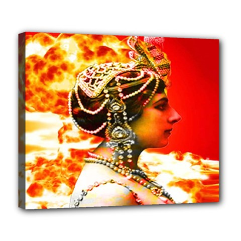 Mata Hari Deluxe Canvas 24  X 20  (stretched) by icarusismartdesigns