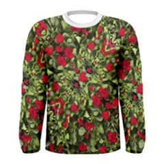 Floral Collage Print Men s Long Sleeve T Shirt by dflcprintsclothing