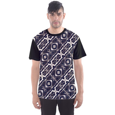 Retro Decorative Pattern Men s Sport Mesh Tee by dflcprintsclothing