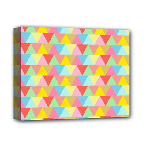 Triangle Pattern Deluxe Canvas 14  X 11  (framed) by Kathrinlegg