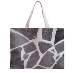 Grey White Tiles Pattern Tiny Tote Bag by yoursparklingshop