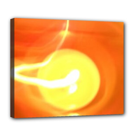 Orange Yellow Flame 5000 Deluxe Canvas 24  X 20  (framed)