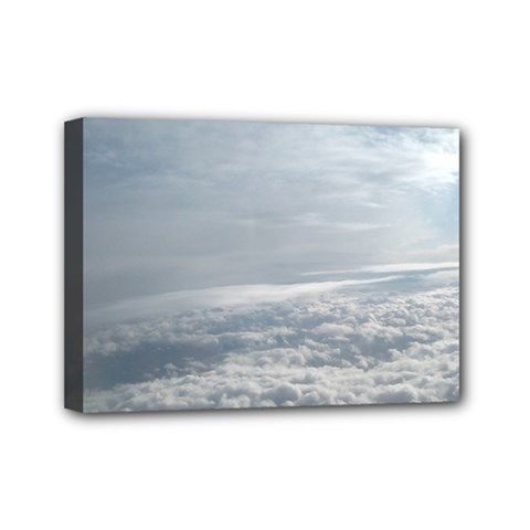 Sky Plane View Mini Canvas 7  X 5  (framed) by yoursparklingshop