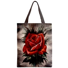 Red Rose Classic Tote Bag by ArtByThree