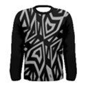 Geometric Tribal Print Men s Long Sleeve T-shirt View1
