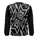 Geometric Tribal Print Men s Long Sleeve T-shirt View2