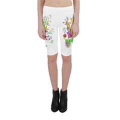 Splatter Life Cropped Leggings  by sjart
