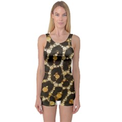 Cheetah Abstract  Women s Boyleg One Piece Swimsuit