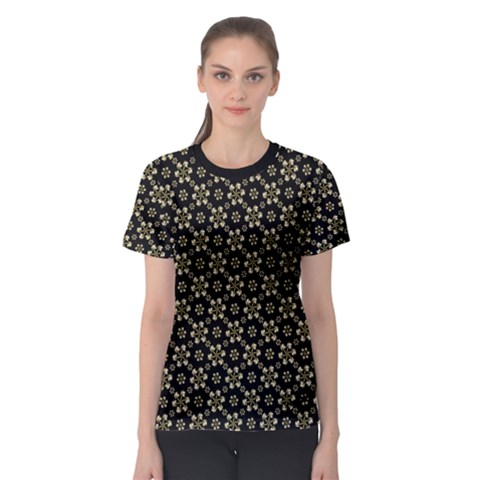 Angels Skull Pattern Women s Sport Mesh Tee by dflcprintsclothing
