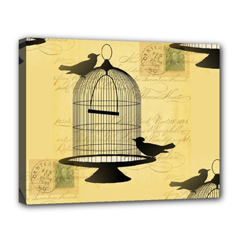 Victorian Birdcage Canvas 14  X 11  (framed) by boho