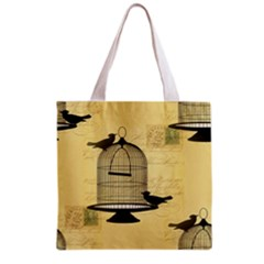 Victorian Birdcage Grocery Tote Bag by boho