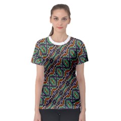 Colorful Tribal Geometric Print Women s Sport Mesh Tee by dflcprintsclothing