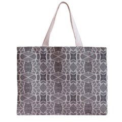 Grey White Tiles Geometry Stone Mosaic Pattern Tiny Tote Bag